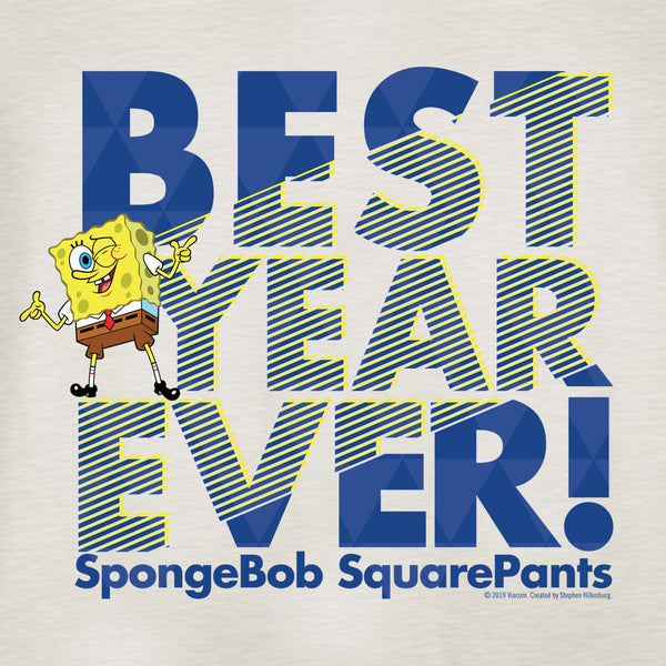 SpongeBob SquarePants Best Year Ever Lightweight Crewneck Sweatshirt
