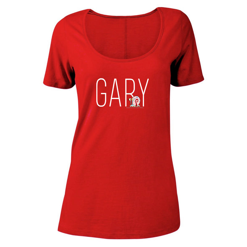 Gary Name Play Women's Relaxed Scoop Neck T-Shirt - SpongeBob SquarePants Official Shop