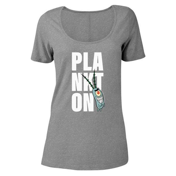 Plankton Big Name Women's Relaxed Scoop Neck T-Shirt - SpongeBob SquarePants Official Shop