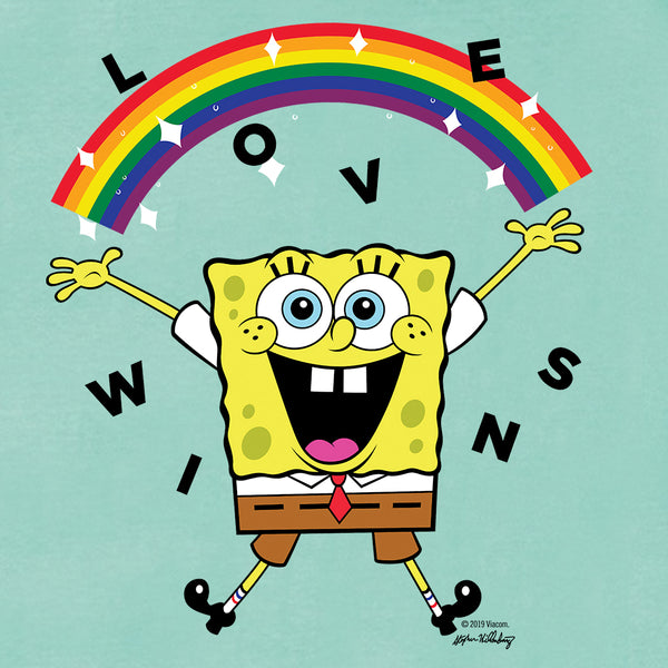 SpongeBob SquarePants Love Wins Women's Flowy Tank Top