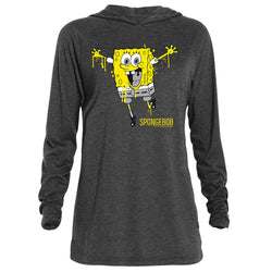 SpongeBob SquarePants Splattered Tri-Blend Raglan Hoodie