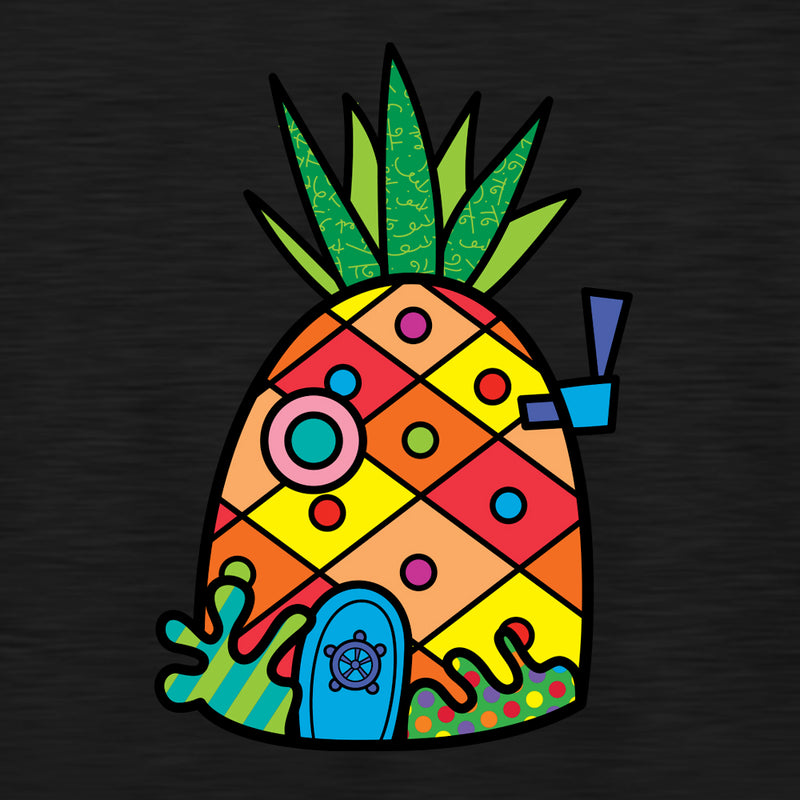 SpongeBob SquarePants Britto PineappleAdult Tri-Blend Raglan Hoodie