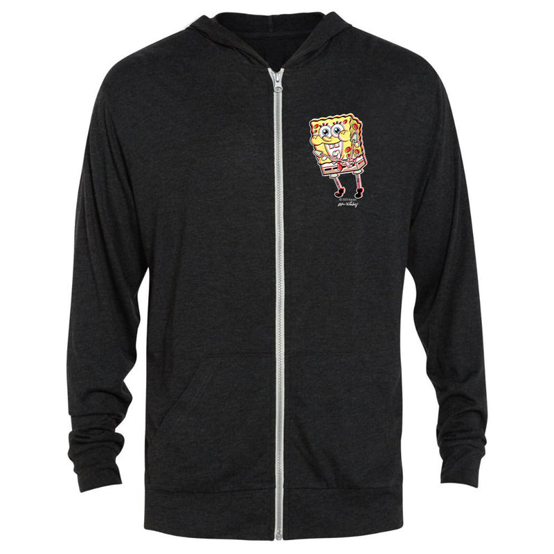 SpongeBob Thrilled Tri-Blend Zip-Up Hooded Sweatshirt - SpongeBob SquarePants Official Shop