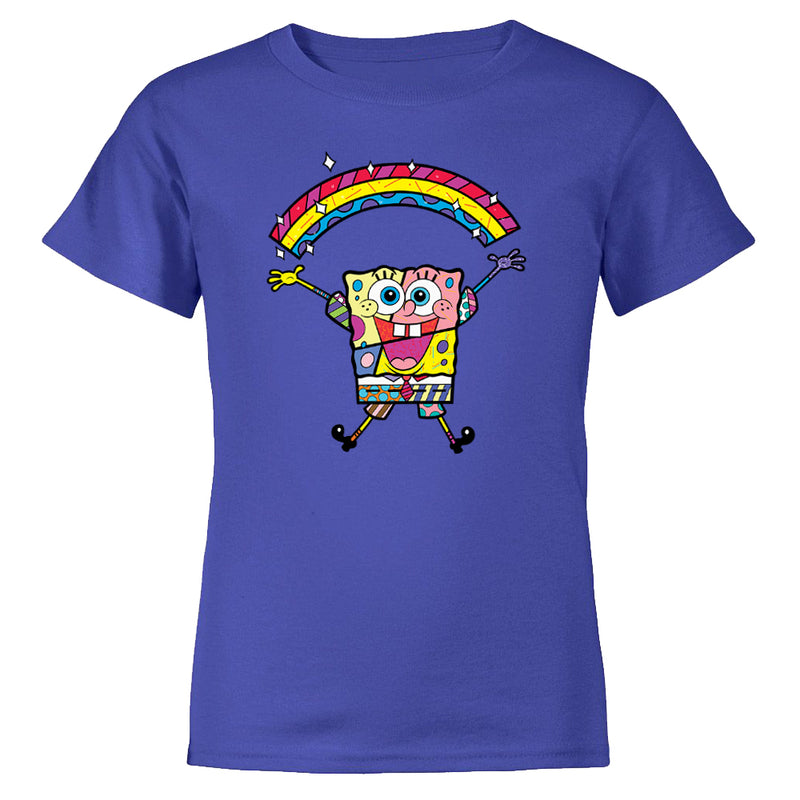 SpongeBob SquarePants Britto Rainbow Kids Short Sleeve T-Shirt