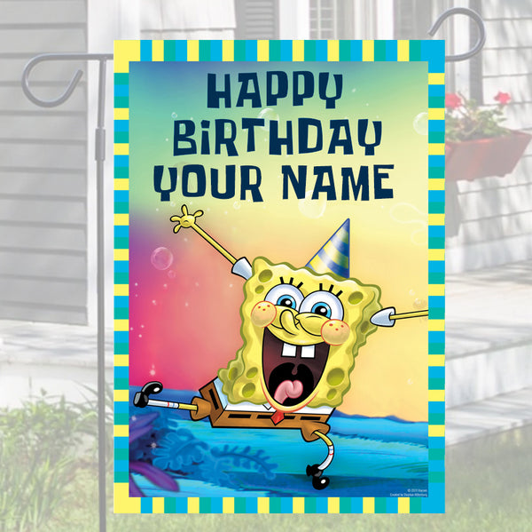 Spongebob Squarepants Personalized Flag - SpongeBob SquarePants Official Shop