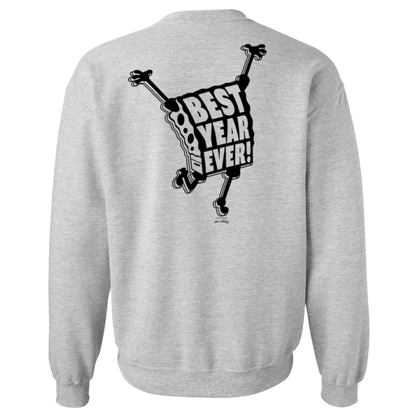 SpongeBob SquarePants Best Year Ever Crew Neck Sweatshirt Fleece Crewneck Sweatshirt