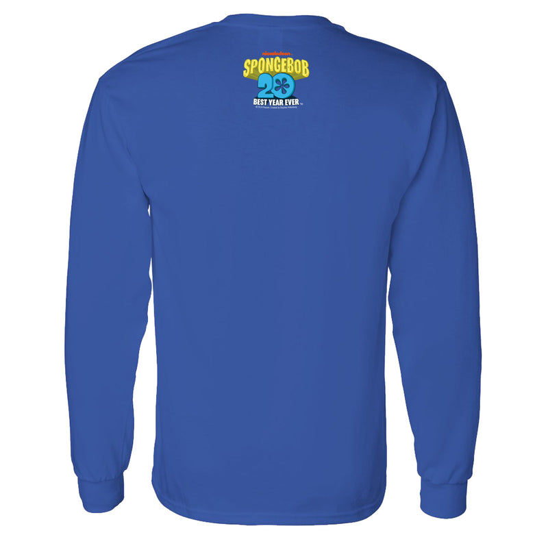 SpongeBob SquarePants Pocket 20th Anniversary Adult Long Sleeve T-Shirt