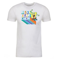 SpongeBob SquarePants Rainbow Best Year Ever Kids Short Sleeve T-Shirt