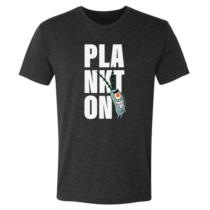 Plankton Big Name Tri-Blend Short Sleeve T-Shirt - SpongeBob SquarePants Official Shop