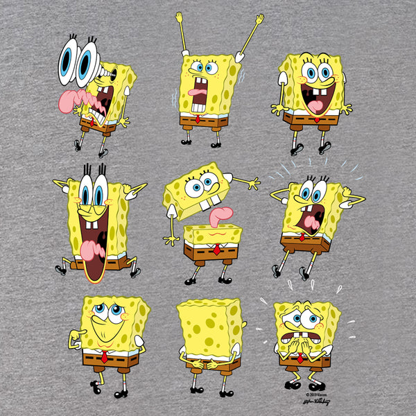 SpongeBob SquarePants Feelin' Moody Tri-Blend Short Sleeve T-Shirt - SpongeBob SquarePants Official Shop