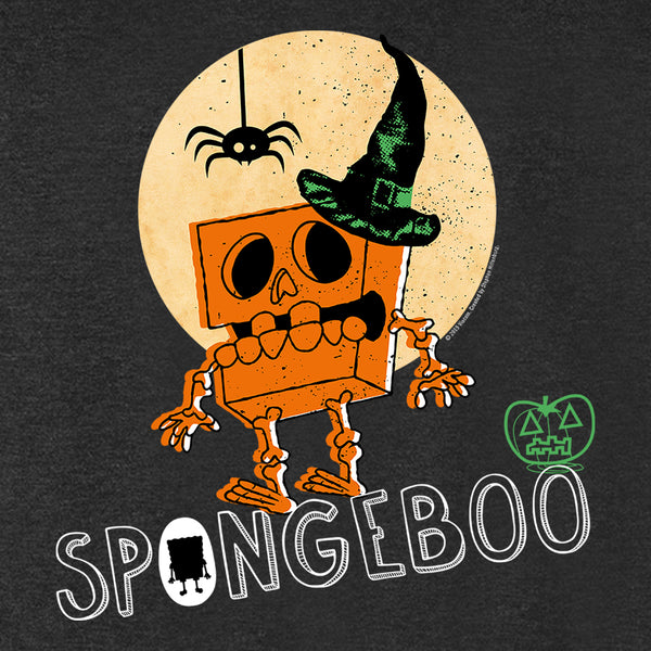 SpongeBob SquarePants Boo Halloween Men's Tri-Blend T-Shirt