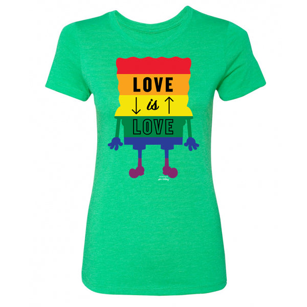SpongeBob SquarePants Love is Love Women's Tri-Blend Short Sleeve T-Shirt