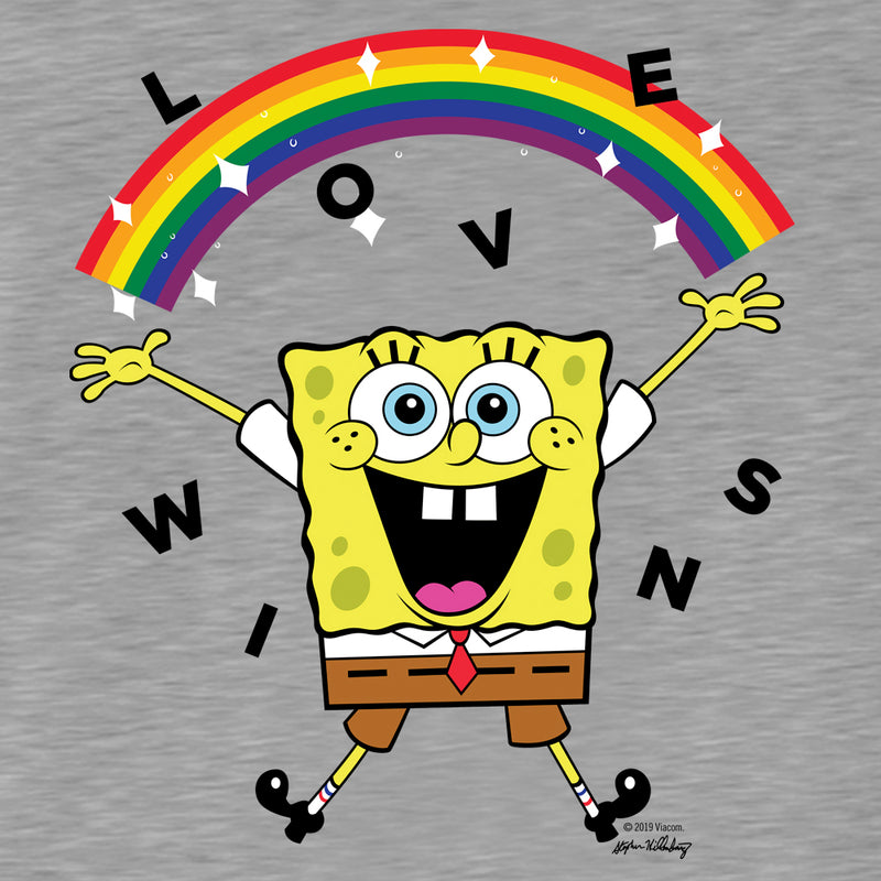 SpongeBob SquarePants Love Wins Women's Tri-Blend Dolman T-Shirt