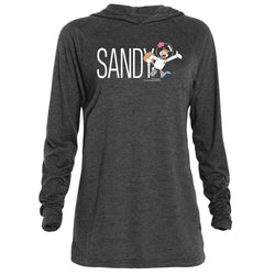 Sandy Cheeks Official Name Tri-Blend Raglan Hoodie