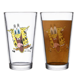 SpongeBob SquarePants Excited Drinking Glass