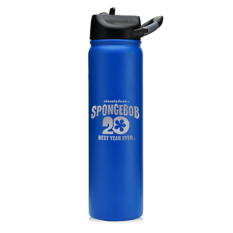 SpongeBob SquarePants Winking 20th Anniversary Laser Engraved SIC Water Bottle - SpongeBob SquarePants Official Shop