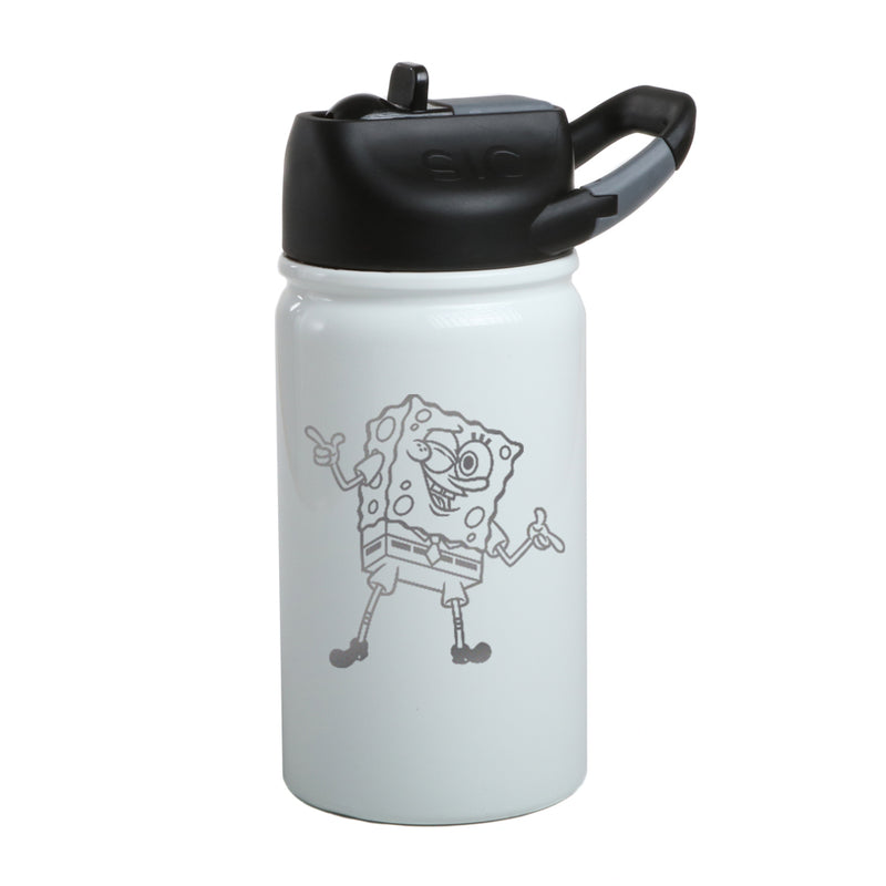 SpongeBob SquarePants Winking 20th Anniversary Laser Engraved Short SIC Water Bottle - SpongeBob SquarePants Official Shop