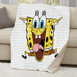 SpongeBob SquarePants Excited Sherpa Blanket