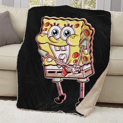 SpongeBob Thrilled Sherpa Blanket - SpongeBob SquarePants Official Shop