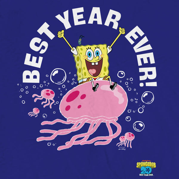 SpongeBob SquarePants Best Year Ever Jellyfish Sherpa Blanket