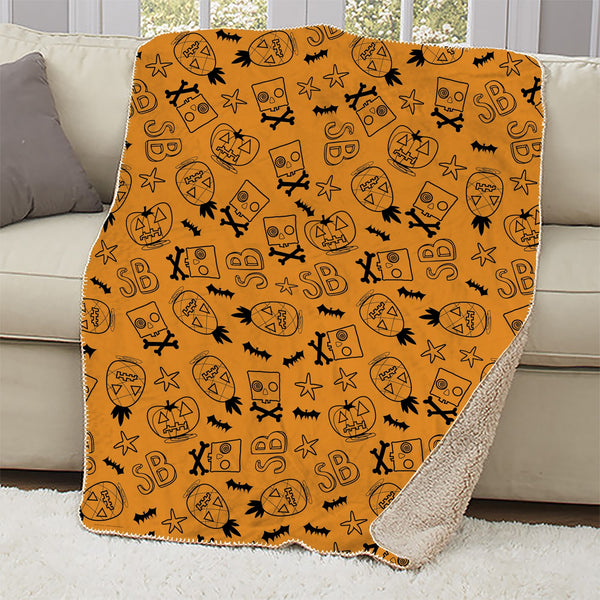 SpongeBob Trick-Or-Treat Sherpa Blanket