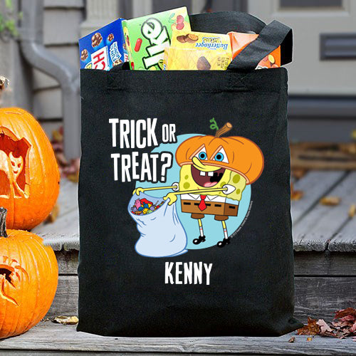 SpongeBob Personalized Trick-Or-Treat Bag - SpongeBob SquarePants Official Shop