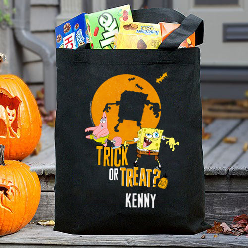 SpongeBob and Patrick Personalized Trick-Or-Treat Bag - SpongeBob SquarePants Official Shop