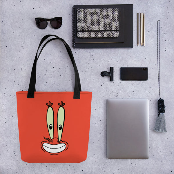 SpongeBob SquarePants Mr.Krabs Big Face Premium Tote Bag - SpongeBob SquarePants Official Shop