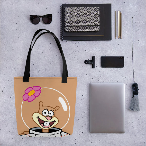 SpongeBob SquarePants Sandy Big Face Premium Tote Bag - SpongeBob SquarePants Official Shop