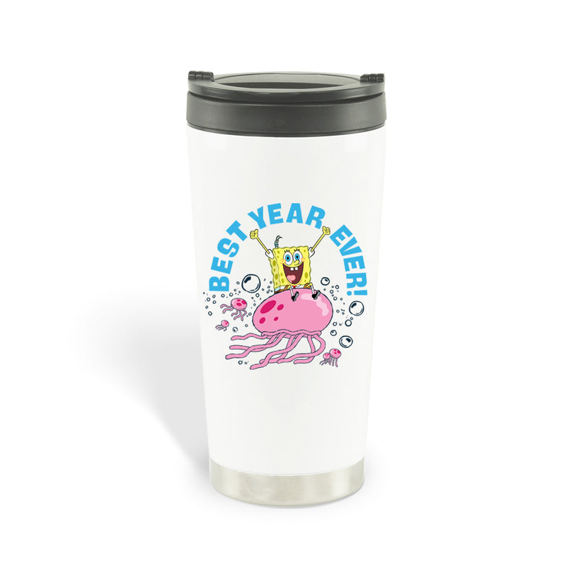 SpongeBob SquarePants Best Year Ever Jellyfish Travel Mug