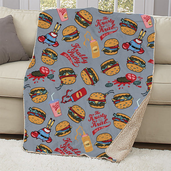 Mr. Krabs Sherpa Blanket