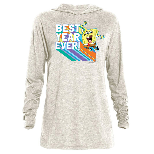 SpongeBob Squarepants Rainbow Best Year Tri-Blend Raglan Hoodie