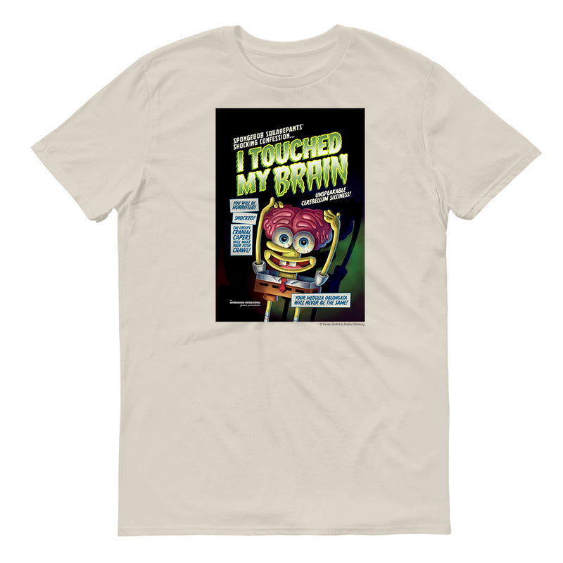 SpongeBob SquarePants I Touched My Brian Adult Short Sleeve T-Shirt