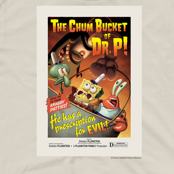SpongeBob SquarePants The Chum Bucket Of Dr.P Adult Short Sleeve T-Shirt