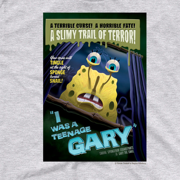 SpongeBob SquarePants I Was A Teenage Gary Adult Short Sleeve T-Shirt