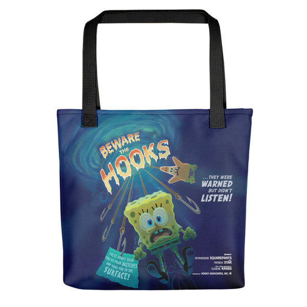 SpongeBob Beware The Hooks Tote Bag - SpongeBob SquarePants Official Shop