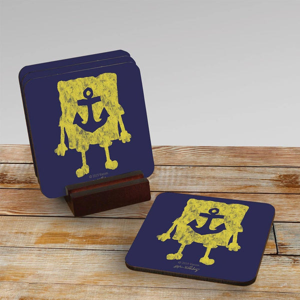 SpongeBob SquarePants Yellow Silhouette Coasters - Set of 4 - SpongeBob SquarePants Official Shop