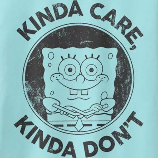 SpongeBob Kinda Care Kinda Don't Racerback Tank Top - SpongeBob SquarePants Official Shop