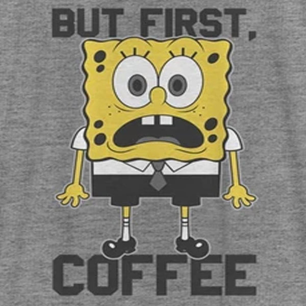 SpongeBob SquarePants First Coffee Women's Racerback Tank Top - SpongeBob SquarePants Official Shop