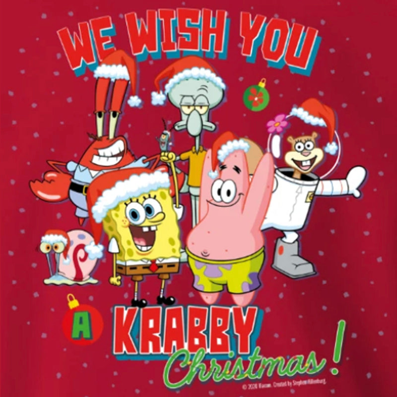 SpongeBob We Wish You a Krabby Christmas Sweatshirt & Mask Bundle - SpongeBob SquarePants Official Shop