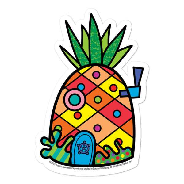 SpongeBob SquarePants Pineapple Britto Sticker - SpongeBob SquarePants Official Shop