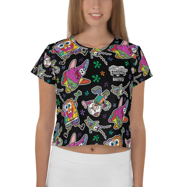 SpongeBob SquarePants Britto Crop Top T-Shirt - SpongeBob SquarePants Official Shop