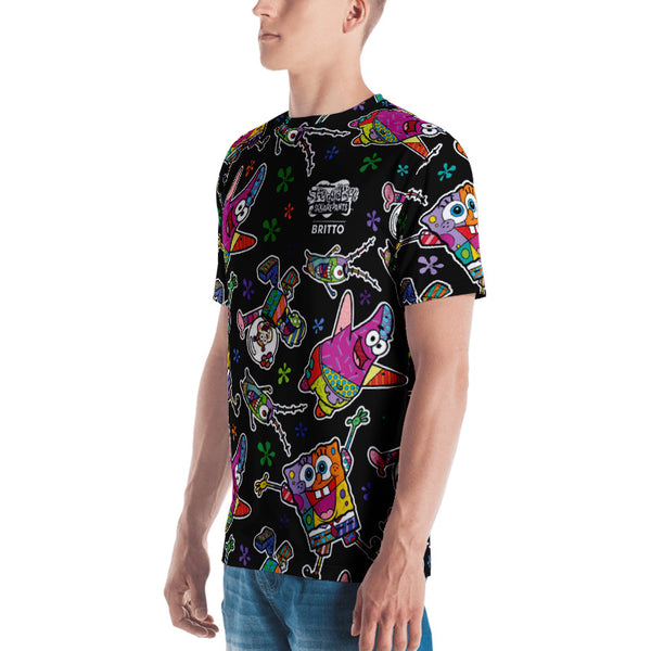 SpongeBob SquarePants Britto Short Sleeve T-Shirt - SpongeBob SquarePants Official Shop