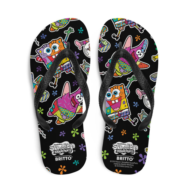 SpongeBob SquarePants Britto Flip Flops - SpongeBob SquarePants Official Shop