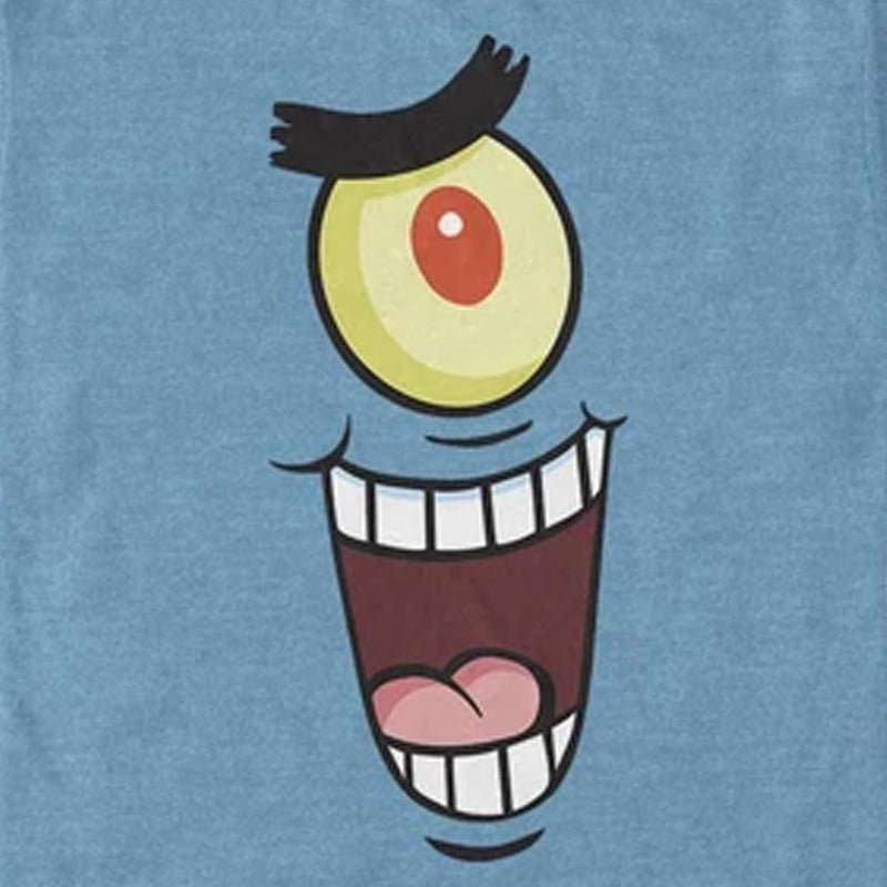 Plankton Big Face Short Sleeve T-Shirt - SpongeBob SquarePants Official Shop