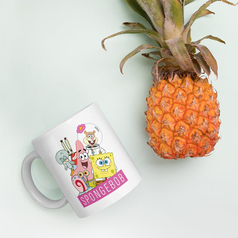 SpongeBob SquarePants Group Shot White Mug