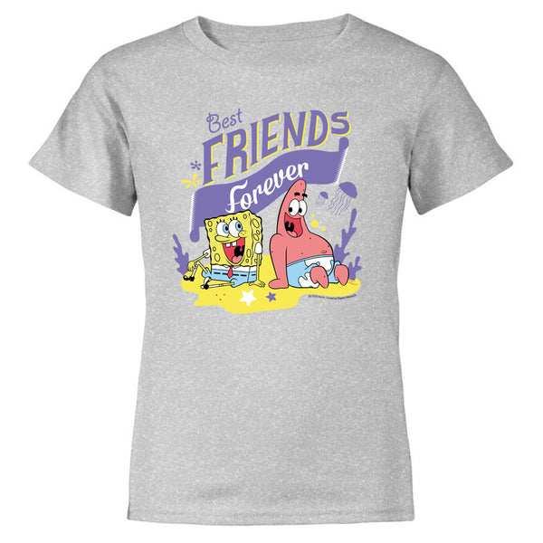 SpongeBob SquarePants Best Friends Kids Short Sleeve T-Shirt