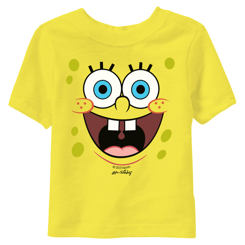SpongeBob SquarePants Yellow Big Face Infant Short Sleeve T-Shirt