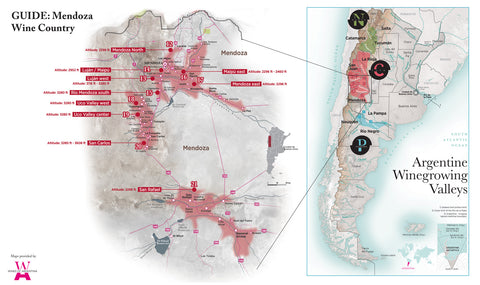 Mendoza wine region map
