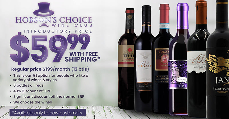 wine specials black friday cyber monday holiday 6 packs hobsons choice wine club